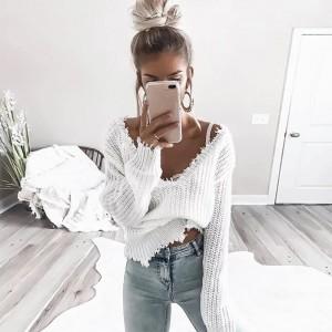 Pulover Franža bel
