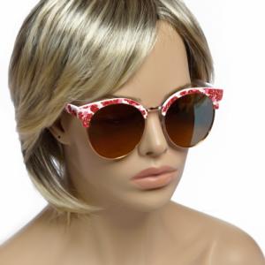 Modna očala Flower crvena