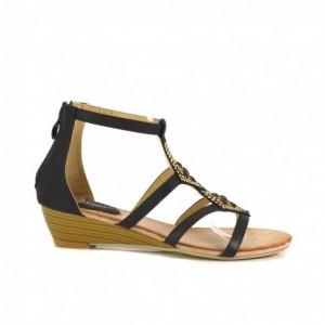 Sandali Joana črni