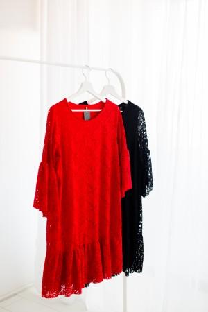 Obleka Čipka črna