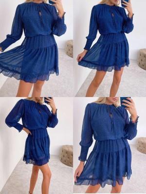 Obleka Blue modra